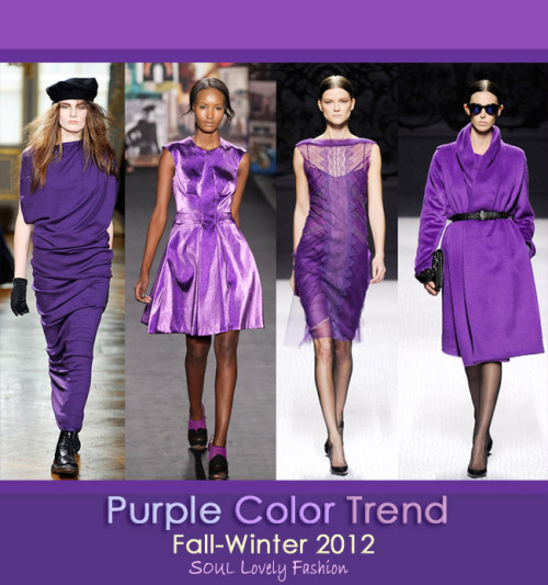 Purple Color Trend for Fall-Winter 2012.