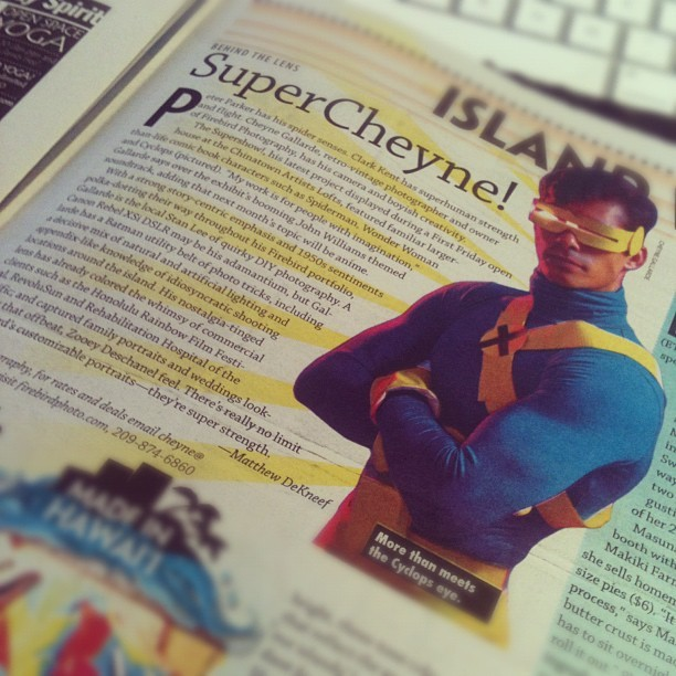 There's an article about me in this week's Honolulu Weekly. Thanks! <3 (Taken with instagram)