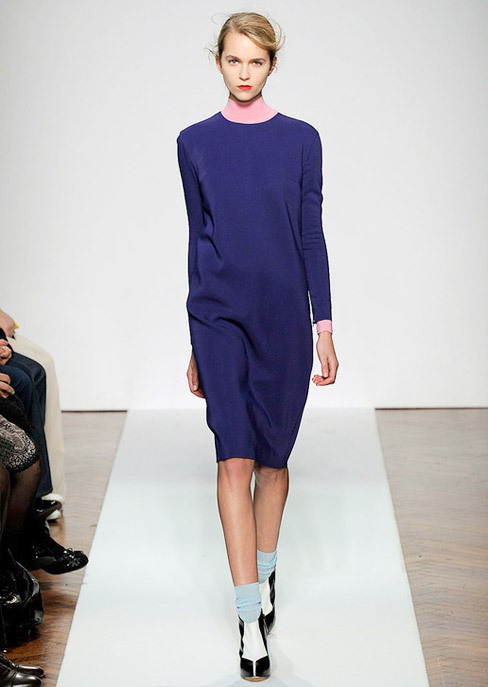 Winter's Trendy Shift in Purple. Mila Schon Fall-Winter 2012.