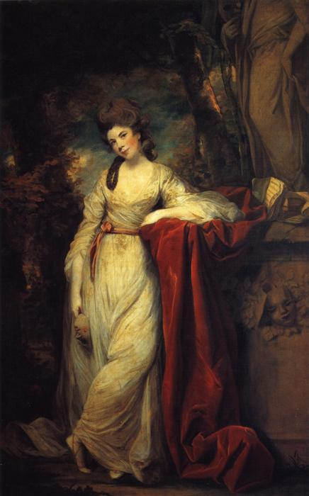 beyondthegoblincity:  Portrait of Mrs Abington (1737-1815), British actress by Joshua Reynolds, circa 1764-1773