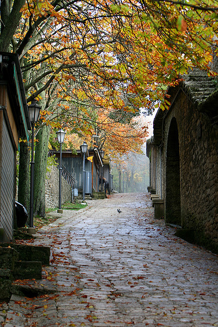 | ♕ |  autumn passage in San Marino | by © Ian Corrigan | via ysvoice