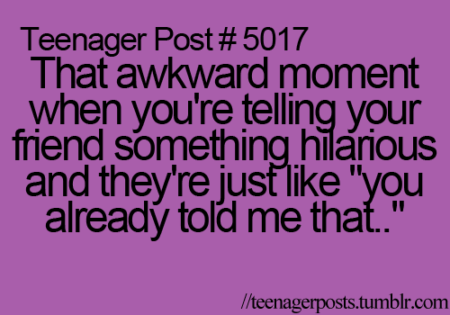 That always happens to me
