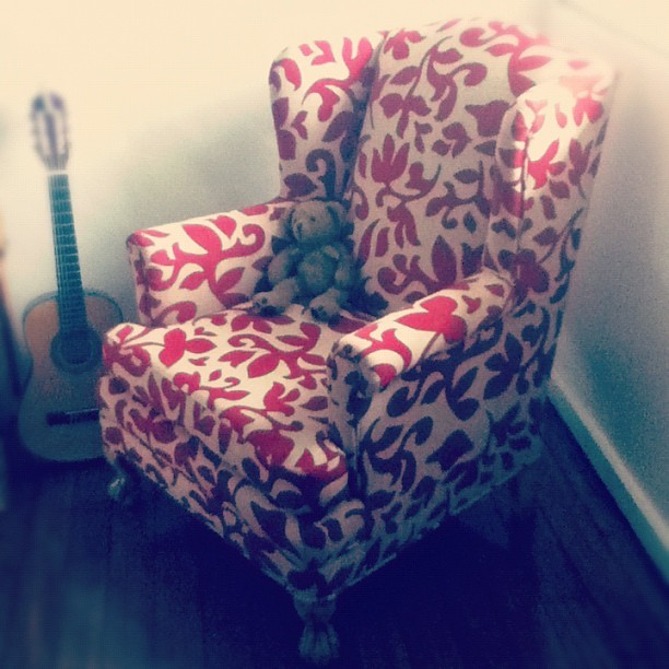 #wingchair #teddybear #vintage #preloved #oldthingsturnednew (Taken with instagram)