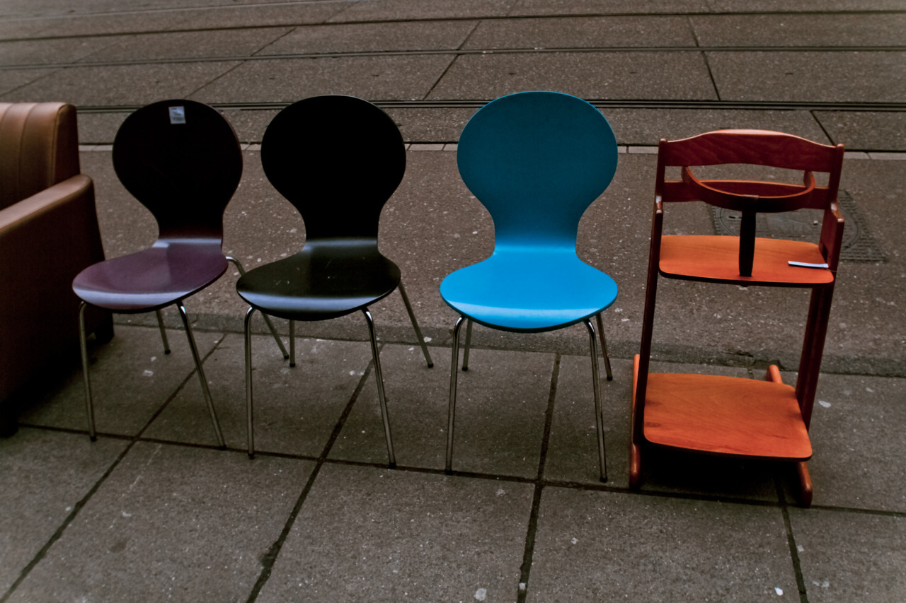 Chairs for sale on the street in #Amsterdam