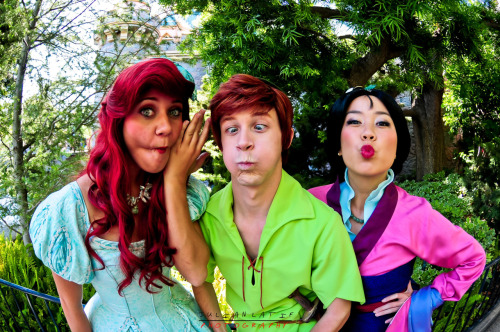 jlatifphotography:  Ariel, Spieling Peter and Mulan     Besties