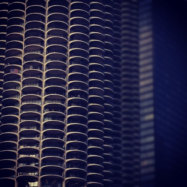 Marina City & IBM. #igerschicago #chitecture #architecture #chicago #skyscraper  (Taken with instagram)