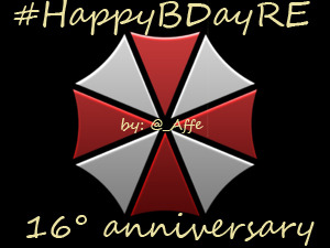 Happy Birthday Resident Evil! 16th years with very blood, scare, fear, zombies and more ~~zombies~~ ! Congratulations! And thank Capcom for the largest and best franchise of all time!