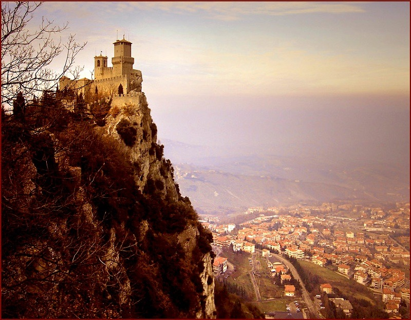 | ♕ |  San Marino - Castle and village  | by © Ricardo André | via ysvoice