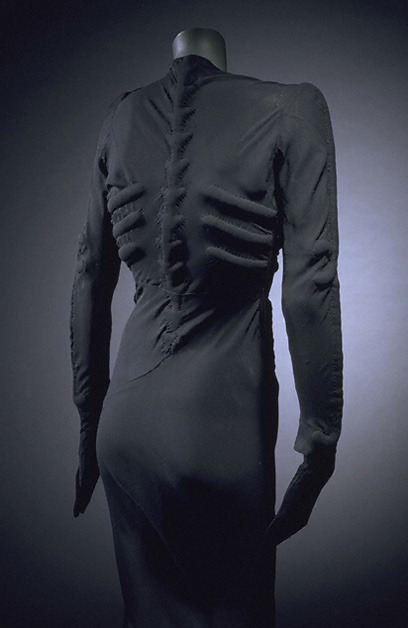 Skeleton Dress by Elsa Schiaparelli and Salvador Dali