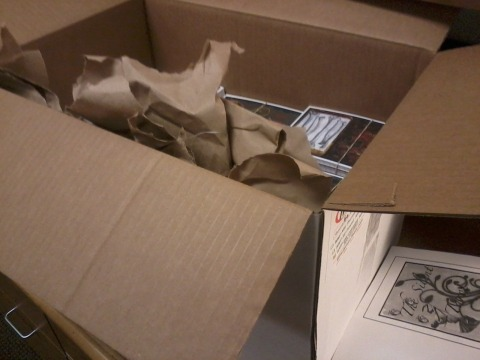 The huge box of cards I just hauled back from the printers. All of them need to be sorted and the corners cut. WHEW