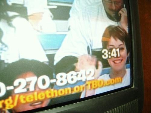 "Going through old pictures. Remember that time I was on TV for a telethon and whenever it panned on me, I would wave and say ""hi mom!""?"