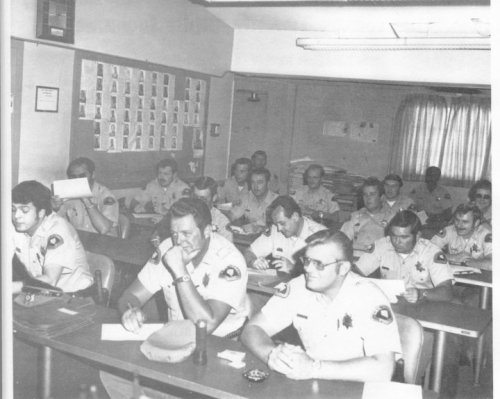 My father and other beat cops during a briefing.  This was Las Vegas PD during 69' or 70'