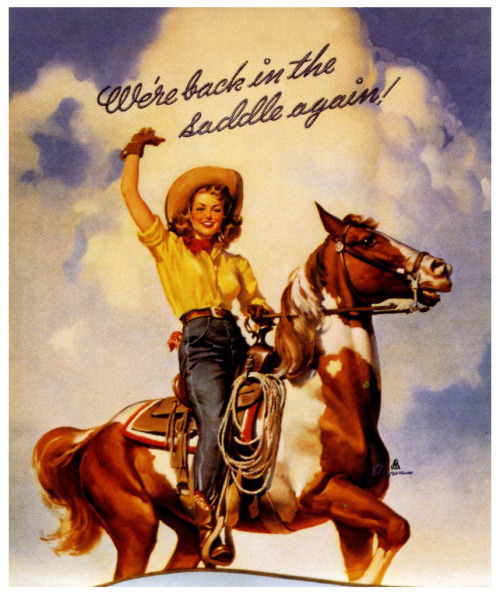 mudwerks:  We're Back In The Saddle Again! (by paul.malon)  1944 by Gil Elvgren (copyright Brown & Bigelow).