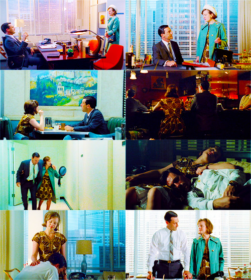 Don: The only person in the world who really knew me.Peggy: That's not true.
