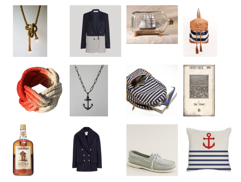 Those who know me in real life know that I am crazy about anything nautical-themed. So much so that my most worn pieces of clothing are, by far, my numerous striped tops and my good ol' trusty navy blazer (complete with gold anchor buttons). I even have a captain's hat that I throw on during Halloween.  Naturally, I created this huge set on Svpply called Nautical Nonsense. It's a carefully compiled collection of all things nautical, from accessories and menswear to books and home decor, and it's still growing. For anyone having difficulty getting me a gift, you know where to go.