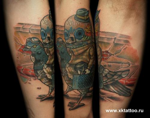 XK Tattoo. Russia, Moscow. Art by Johnny Crap.