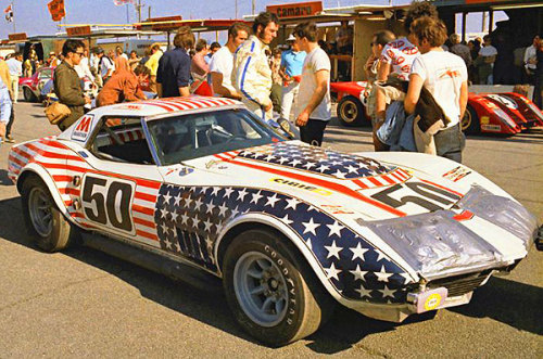 John Greenwood Corvette at Michigan International Speedway 1971