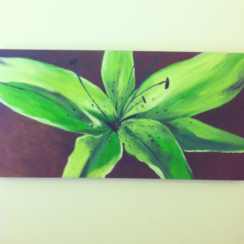 Giant Lilly canvass. Acrylic.