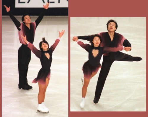 Xue Shen and Hongbo Zhao skating to Mount Olympus by Mars Lasar for their free skate at the 1997 Trophée Lalique. Photos by Barry Mittan. Sources: http://www.jbmittan.com/skaterpix1997/9736134.JPG http://www.jbmittan.com/skaterpix1997/9736135.JPG