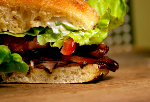 BLT with Homemade Vegan Bacon Make the homemade vegan bacon, make the sandwich. You won't be disappointed. CLICK ON PIC FOR RECIPE
