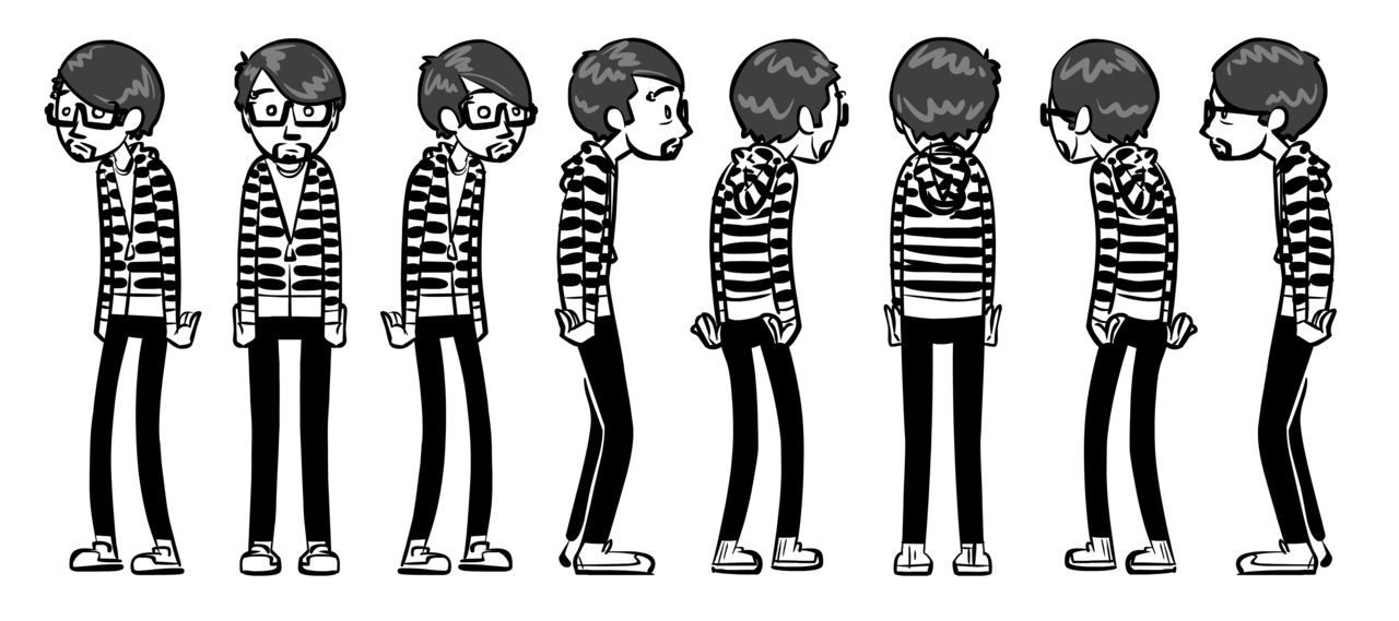 A model sheet of myself. How many people have THAT?!