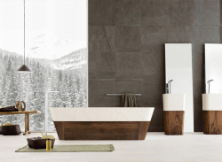 (via Neutra's Sleek & Stylish Bathrooms Inspired by Nature | Freshome)