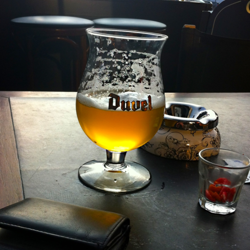 Duvel… but it glows like an angel