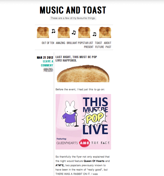 Just seen this review of This Must Be Pop from Music and Toast. Thanks so much for the kind words and glad you enjoyed it.