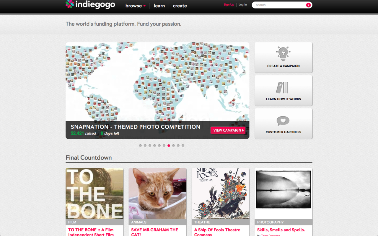 Our producer, Ella, noticed that TO THE BONE has made Indiegogo's homepage for the third time this week!  We are really excited about this, clearly.  Let the countdown begin! 7 Days left to contribute to To The Bone and help this film manifest itself.   By the way, did we mention we are shooting this Saturday!