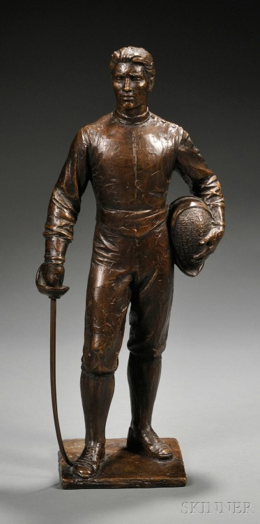 Figure of a Fencer (bronze, mid-20th century) Auction Estimate: $800–1,200