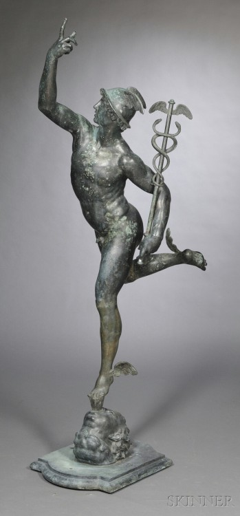 Sculpture of Mercury (bronze, 1889) – William A. Jenner of Ridgefield CT, after Giambologna Auction Estimate: $7,000–9,000 See also this smaller and more affordable Mercury.