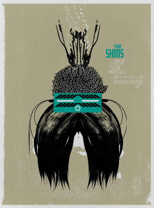 THE SHINS TOUR POSTER - LONDON MARCH 22 & 23 edition of 100