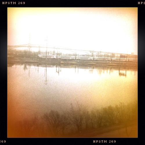 Outside Newark. My first truly raw #Hipsta shot. Libatique 73 Lens, Pistil Film, Cherry Shine Flash, Taken with Hipstamatic