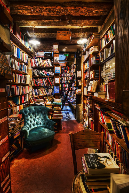 Shakespeare and Company, Paris via Visualist Images Photography If you love book and the nooks in which to read them, then the Shakespeare & Company bookstore in Paris, France is just what you need.