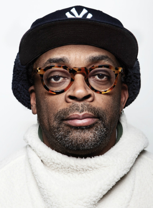 Great portrait shot of director Spike Lee by Tom Medvedich