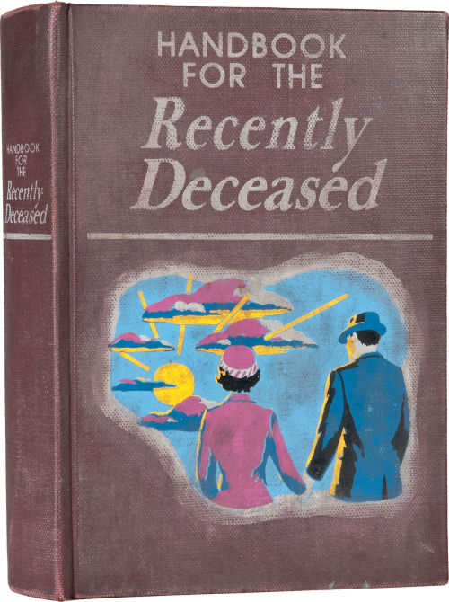 Heritage Auctions: Handbook for the Recently Deceased prop book from Beetlejuice.