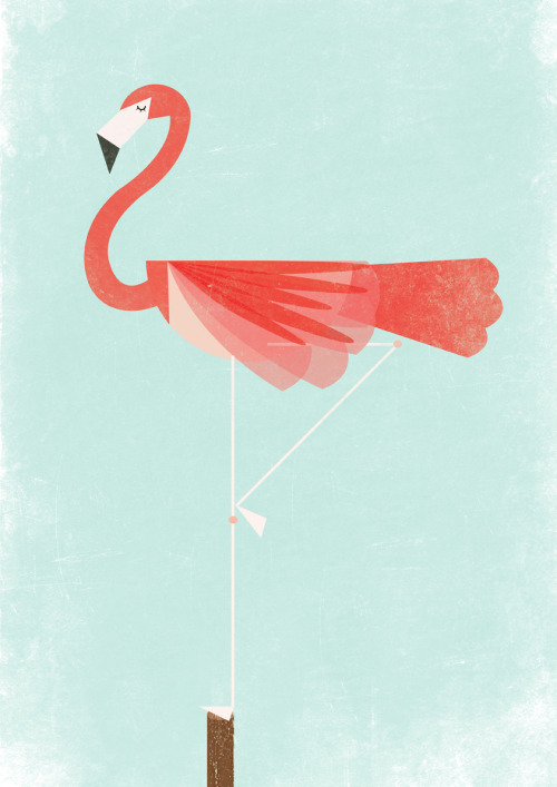 designersof:  Kung fu Flamingo is on threadless!  lawn decorations <3