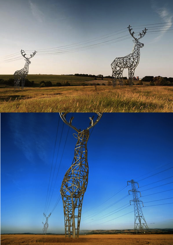 szymon:  deer-shaped pylons concept by DesignDepot