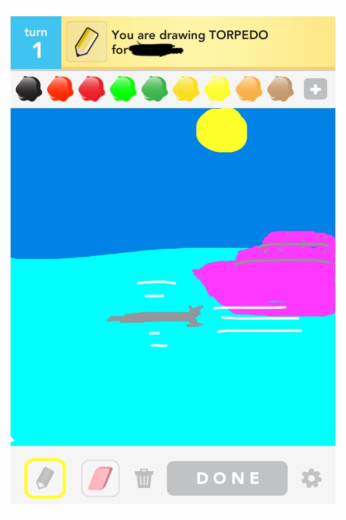 Seriously tempted to start a tumblr for my 'Draw Something' drawings. I won't, of course. :-)