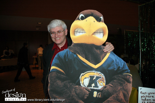 lookslikescience:  This is a picture of me and Flash, Kent State University's mascot. Flash is the one with the beak. I am a mathematician at Kent State University and myspecialty is in representations and characters of finite groups.  I'll always reblog Kent State! My current workplace for another three weeks :o)