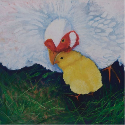 "LITTLE CHICK_BY HOLLY SEDGWICK ""Little chick wants to stay up all night long, spinning with the dancing stars but Mama Hen's warm feathers bring little chick home."" - Holly Sedgwick Click here to purchase a copy of the children's story ""Little Chick"" Toronto, ON"
