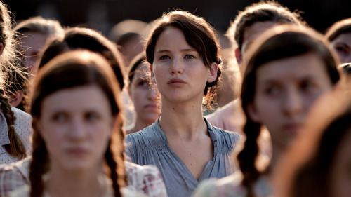Suzanne Collins' bestseller about a televised killing tournament has come to the big screen, with a cast that includes Jennifer Lawrence, Lenny Kravitz and Stanley Tucci. Critic David Edelstein says some of the actors — including Lawrence — give amazing performances.