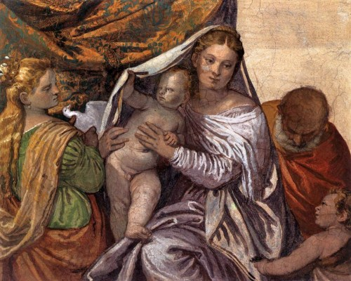 Paolo Veronese, The Holy Family with St Catherine and the Infant St John  Peekaboo, bitch!