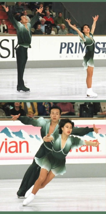 Xue Shen and Hongbo Zhao skating to Mount Olympus by Mars Lasar at the 1997 Grand Prix Final. Photos by JB Mittan. Sources: http://www.jbmittan.com/skaterpix1997/9744201.JPG http://www.jbmittan.com/skaterpix1997/9744203.JPG