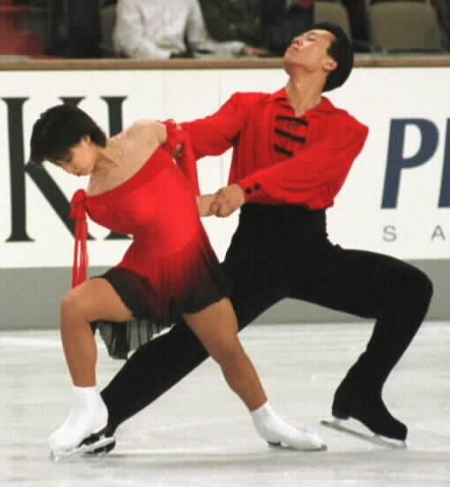 Xue Shen and Hongbo Zhao skating to Zigeunerweisen by Pablo de Sarasate for their short program at the 1997 Grand Prix Final. Photos by JB Mittan.