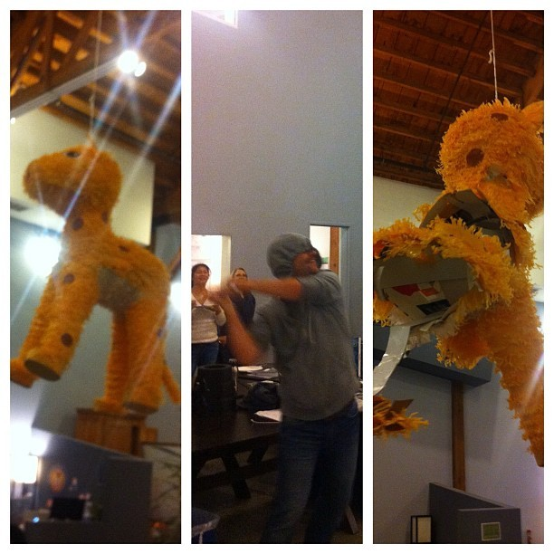 Zach's Birthday Piñata Slamtacular! (photo by Justin Reynard)