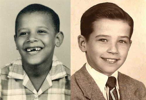 team-mittry:  Barack Obama and Joe Biden, age 10