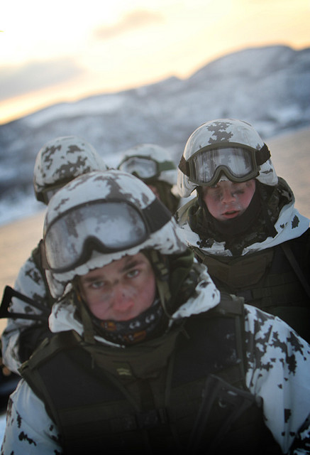 Finnish Soldiers from Finnish Rapid Deployment Forces during the large scale NATO exercise Cold Response 2010. Source: Flickr