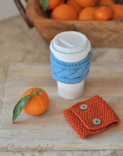 Centsational Girl » Blog Archive » Knit Coffee & Tea Cozies