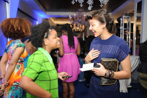 Erin Christovale and Mara Hruby at the MOJAMOJA 4th Annual Pre-Grammy Brunch.